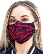 Herbruikbaar mondkapje zwart-rood