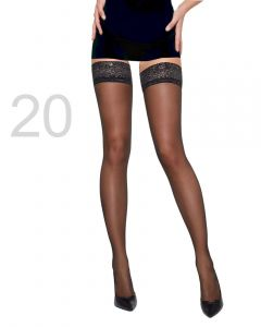 Caresse stay-up sheer elegance 20