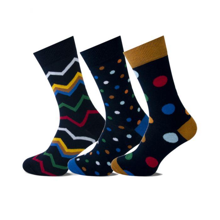 Heren sokken fashion 3-pack