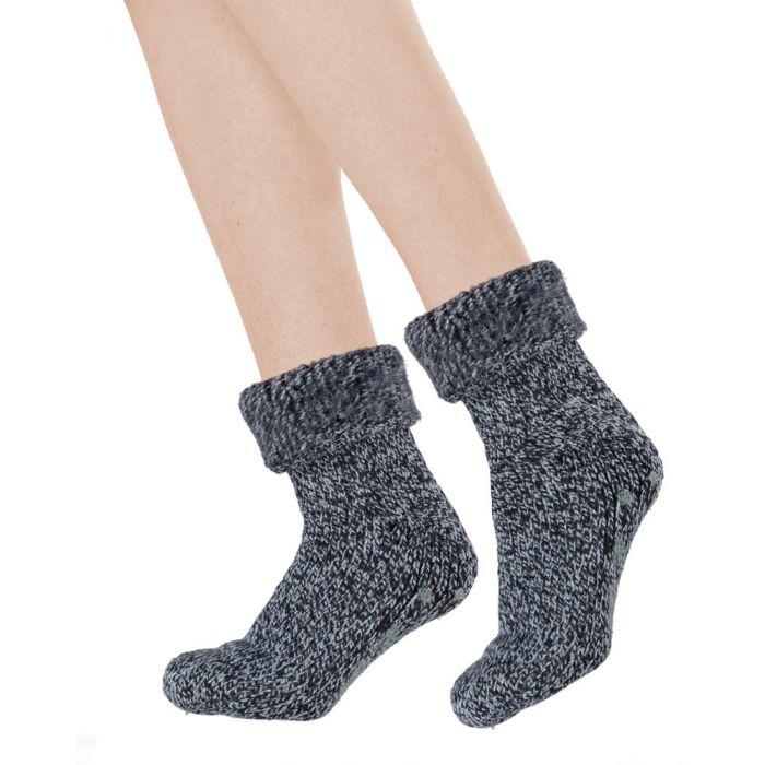 Topsocks huissokken wol met anti-slip ABS